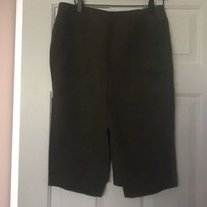 Army green skirt with a slit in the front & back